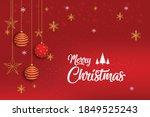 happy merry christmas vector... | Shutterstock .eps vector #1849525243