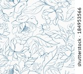 seamless floral pattern with... | Shutterstock . vector #184953566