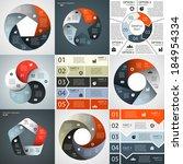 vector infographics set....   Shutterstock .eps vector #184954334