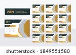 2021 desk calendar template for ... | Shutterstock .eps vector #1849551580