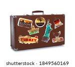 Retro Suitcase With Travel...