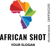 logo with shape of africa and... | Shutterstock .eps vector #1849565200
