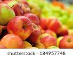 Idared Apples In Supermarket.