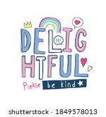 colorful delightful slogan with ...   Shutterstock .eps vector #1849578013