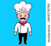 vector chef with mustache and...   Shutterstock .eps vector #1849578790