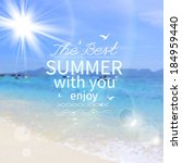 summer background  vector | Shutterstock .eps vector #184959440