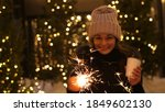 young smiling woman holding... | Shutterstock . vector #1849602130