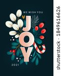 christmas card with a wish of... | Shutterstock .eps vector #1849616626