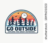 mountain illustration  outdoor... | Shutterstock .eps vector #1849631023