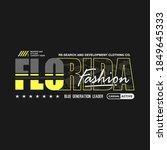 florida fashion.illustration... | Shutterstock .eps vector #1849645333