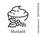 mustard sauce in a bowl and... | Shutterstock .eps vector #1849650106