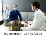doctor with senior patient... | Shutterstock . vector #1849673503