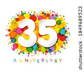 35 th anniversary numbers. 35... | Shutterstock .eps vector #1849689523