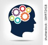 vector head gears. abstraction... | Shutterstock .eps vector #184972418