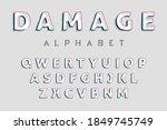 glitch style alphabet....   Shutterstock . vector #1849745749