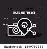 user interface  black...