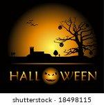 poster. halloween night. | Shutterstock .eps vector #18498115
