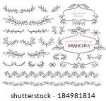 curly frames  ornate elements... | Shutterstock .eps vector #184981814