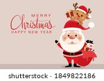 merry christmas and happy new... | Shutterstock .eps vector #1849822186