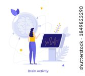 scientist or neurologist...   Shutterstock .eps vector #1849823290