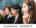 call center operators | Shutterstock . vector #184982876