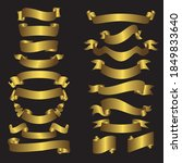 abstract golden tags set on... | Shutterstock .eps vector #1849833640