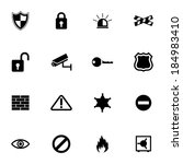vector black security icons set ... | Shutterstock .eps vector #184983410