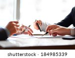 banking business or financial... | Shutterstock . vector #184985339