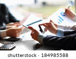business people meeting to... | Shutterstock . vector #184985588
