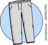 sweatpants | Shutterstock .eps vector #184987490