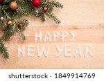 Phrase happy new year on the...