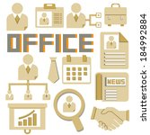 office and organization icons... | Shutterstock .eps vector #184992884