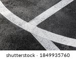 White lines marking the playing ...