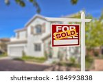sold home for sale real estate... | Shutterstock . vector #184993838