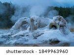 Grotto Geyser In Upper Geyser...