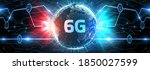 the concept of 6g network  high ...   Shutterstock . vector #1850027599
