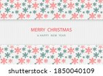 merry christmas. red and green...   Shutterstock .eps vector #1850040109