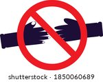 no handshake vector. not allow... | Shutterstock .eps vector #1850060689