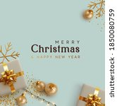 merry christmas and happy new... | Shutterstock .eps vector #1850080759
