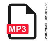 file mp3 flat icon isolated on...