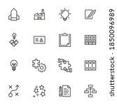 modern thin line icons set of...