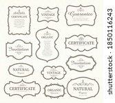 vector set of calligraphic... | Shutterstock .eps vector #1850116243