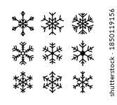 vector snowflake icon set... | Shutterstock .eps vector #1850119156