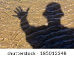 silhouette of man say hello ...   Shutterstock . vector #185012348