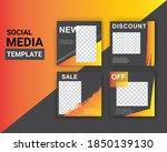 modern promotion template for... | Shutterstock .eps vector #1850139130
