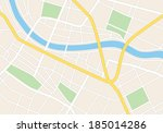 town streets on the plan | Shutterstock . vector #185014286