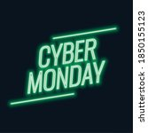 neon cyber monday sale stylish... | Shutterstock .eps vector #1850155123