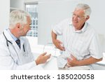 male senior patient visiting a... | Shutterstock . vector #185020058