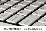 typical wireless keyboard of an ... | Shutterstock . vector #1850202883