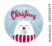 christmas greeting card with...   Shutterstock .eps vector #1850205679